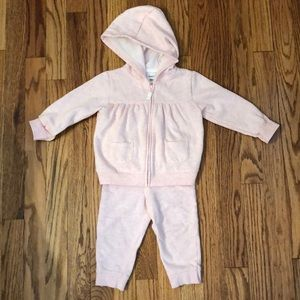 Other - Baby girl light pink sweatsuit